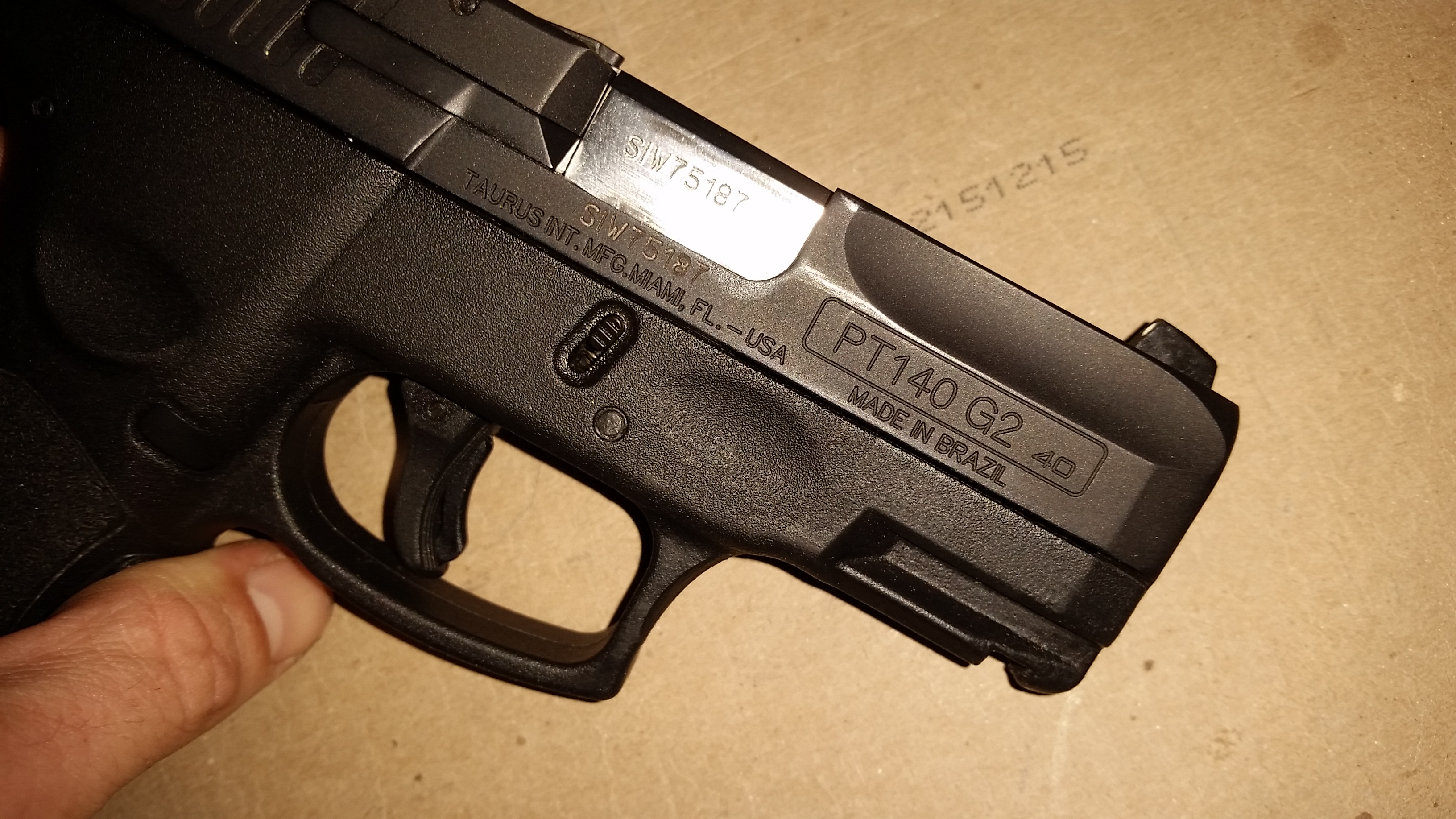 Taurus PT111 G2 black finish comes off easy  - Page 2