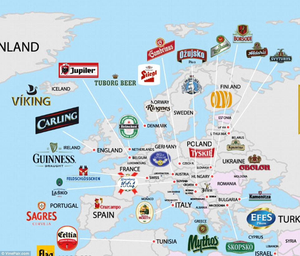 The Beer That Brings Us Most Cheer Map Shows Each Nations Most - Beer Map Of The Us