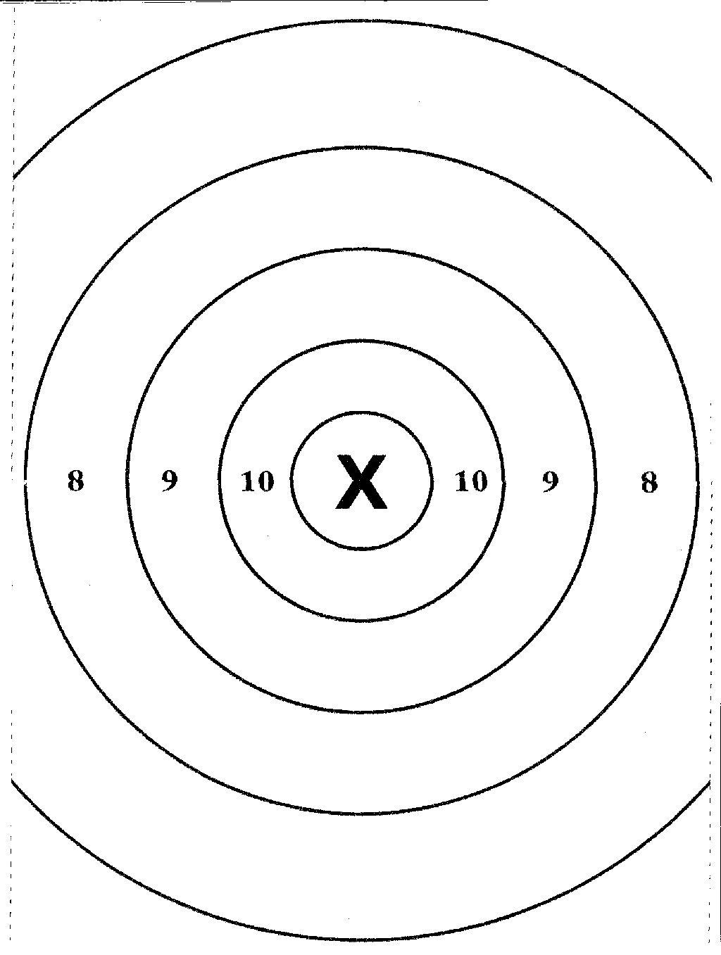 8 X 11 Printable Targets C Ile Web E Hukmedin
