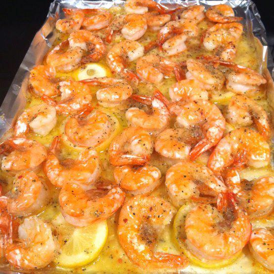 Lemon Shrimp Recipes Slice one lemon and layer it