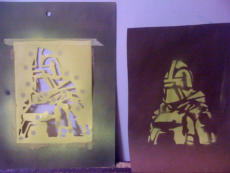 Homemade Targets Spray Paint Stencils