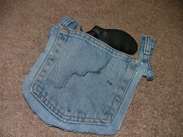 """photos for DIY """"jeans"""" holster, IWB"""