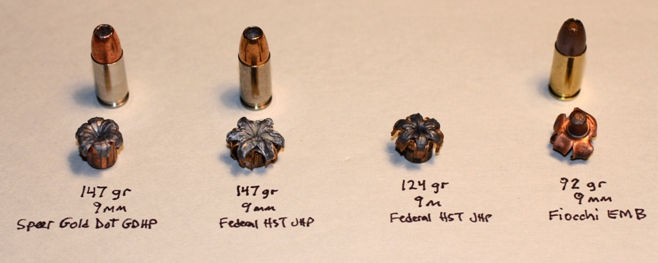 Test of Gold Dot, Federals, and Fiocchi EMB Hollow Point Ammo