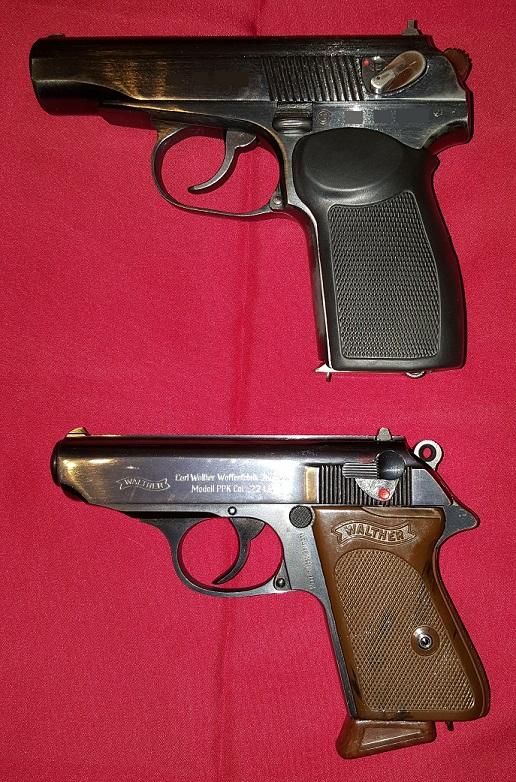 Walther PP in Makarov (bolgarska kopija).