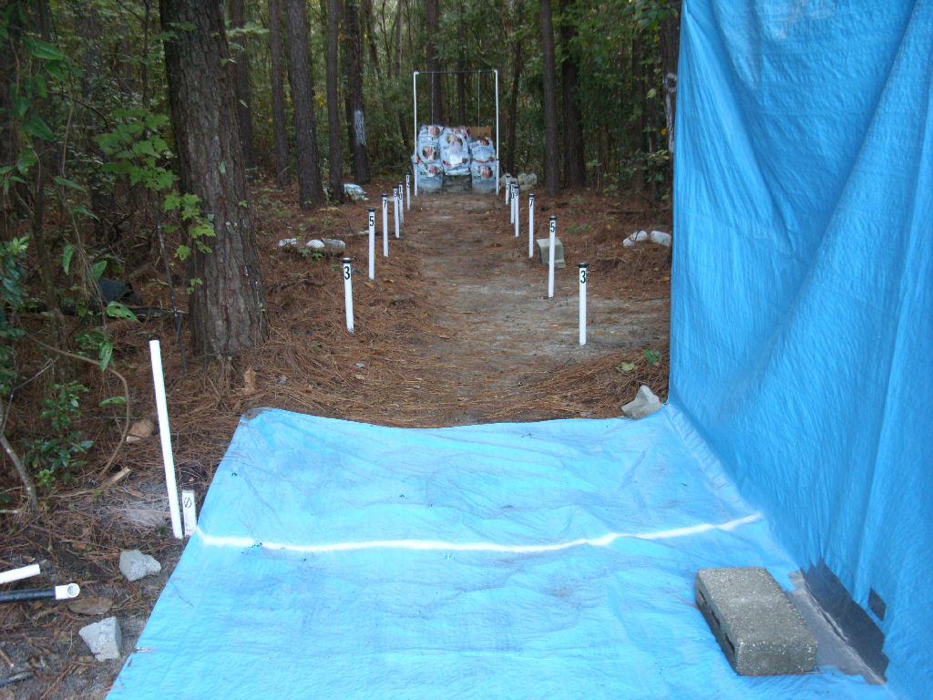 Backyard Archery Range Backstop :  height to make sure the backstop is behind the center of the target