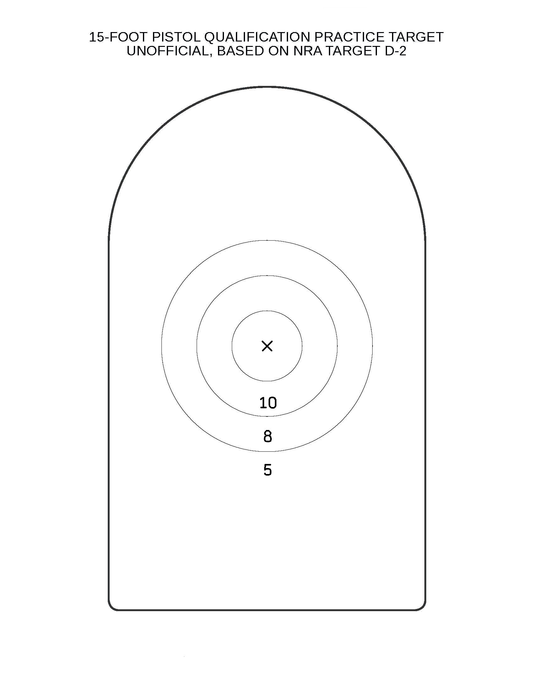 Printable Shooting Targets 8 5 X 11 Pictures to pin on Pinterest