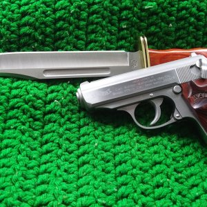 Smith & Wesson PPK/S with Buck 120