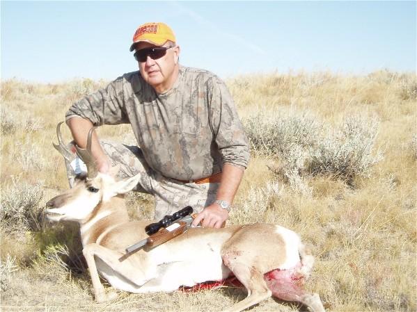 2010 Wyoming Antelope taken at 156 yards with Encore Pro Hunter 25/06