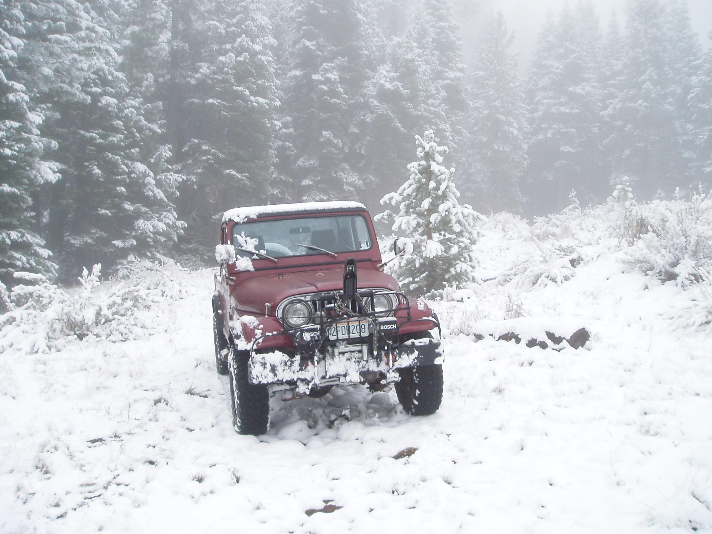 Freak mid-September snow storm in California Sierras