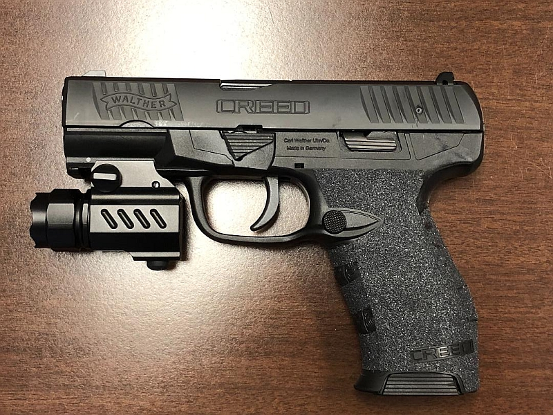 Walther Creed  - So cheap I couldn't sell it for anything. It shoots good though. I added night sight paint, better grip texture, and a cheap throwaway rail mounted light. This stays in a drawer...just in case.